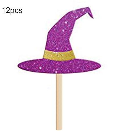 Cupcake Toppers 12 PC Decoraciones de Halloween Fiesta Mini ...