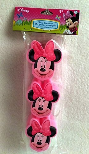 Happy MINNIE MOUSE Girls Easter Basket Kids Toddlers Gift Children Pre Made Girls Eggs Stickers Goodies Candy Holder