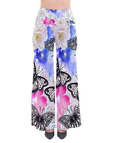 PattyCandy Womens Butterflies So Vintage Palazzo Pants - 3XLTall