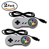 2 SUPER NES USB LOT GAME PAD CONTROLLER FOR ANDROID PC AND MAC EMULATOR, ARCADE - RASPERRY PI 3- Mario Retro Brand - Generic