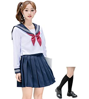 ROLECOS Japanese School Girl Uniform Anime Sailor Suit Lolita School Uniform