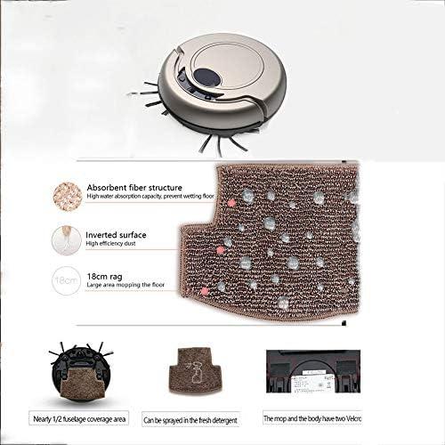 Robot Aspirateur Laveur, 2000pa 3-en-1 avec Smart Navi Nettoyage Personnalisé Cartographie multi-étages Barrières Virtuelles sur les Tapis Moquettes et Sols Durs,Rose