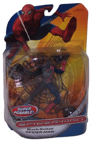 Suited Spider Man 3 Costume (Spider-Man Symbiote Takeover Super Poseable with suction cup)