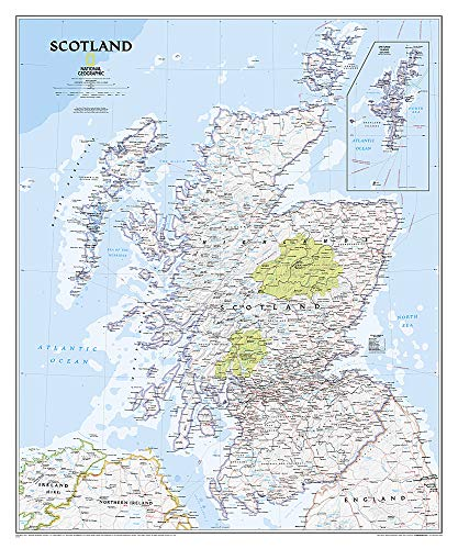 National Geographic: Scotland Classic Wall Map (30 x 36 inches) (National Geographic Reference...