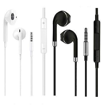 4a2b2789865 Audífonos con micrófono y control de volumen, audífonos intraurales de  sonido estéreo transparente para iPhone