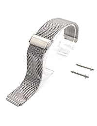 Huawei Watch Band, Rerii Mesh Stainless Steel, Quick Release, 18mm Watch Band, Strap for Huawei Watch