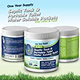 Septic Tank Treatment & Holding Tank Deodorizer Tablets, 1 year supply, Bio clean Packs for RV, Marine Portable Toilets, toilet cleaning chemicals, All Natural. Must have RV accessories