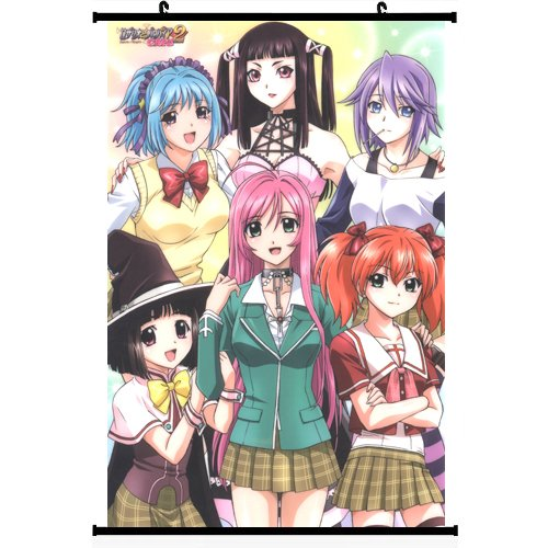 Rosario+vampire Anime Wall Scroll Poster support Customized