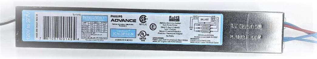 (10 Pack) Philips Advance 10637 - ICN-3P32-N T8 IntelliVolt Fluorescent Ballast 51-MTrl8ieL