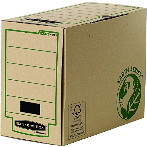 Bankers Box Earth Series A4Magazine File, 100% Recycled, Brown, Pack of 20 A4 200 - Series Fellowes Earth