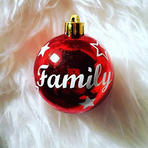 Weihnachtskugel Kunststoff mit Name personalisiert