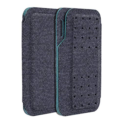 Carrying case for Kardia Mobile EKG Monitor - Travel Kardia Case Fits in Pocket, Features Magnetic Closure to Keep Kardia Device Safe On the Go, Dark Blue