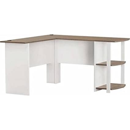 L Shaped Desk With Side Storage, Multiple Finishes