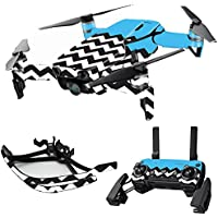 MightySkins Skin for DJI Mavic Air Drone - Baby Blue Chevron | Max Combo Protective, Durable, and Unique Vinyl Decal wrap cover | Easy To Apply, Remove, and Change Styles | Made in the USA
