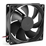 Iusun Mini Fan, 12V Ultra Quiet Computer/PC/CPU Silent Cooling Fan - 8cm/80mm/80x80x25mm (Black)