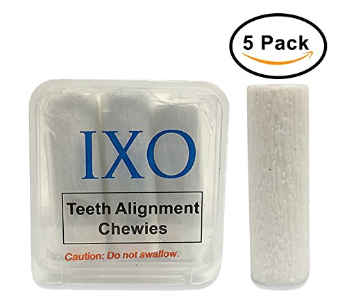 IXO Aligner Chewies for Invisalign Trays, Unscented, Clear Tray to Speed Up Treatment, Soft & Spongy, Small Roll, Reduce Gaps in Teeth, Beautiful Smile, Smooth and Quick Multi Colors (5 PCs) (White) by Holistic Store