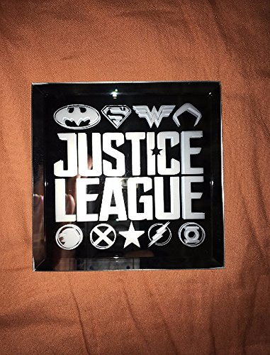 Justice League Members Limited Edition Mirror & Coaster Glass Etching Gift Set