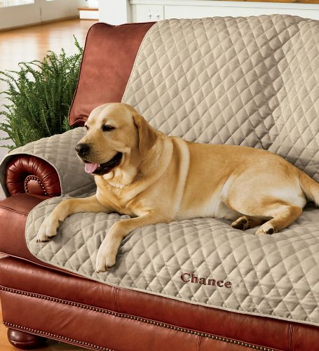 Polyester pet chair protective cover in taupe for Furniture covers for pets amazon