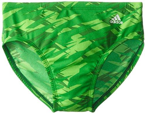 adidas Swim Impact Camo Print Brief, Green, Size 34