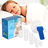 Snore Stopper, Loisuzn Silicone Anti Snoring Devices Snore Stopper Nose Vents and Mouth Tray Mouthpiece for Snore Solution Reducing Aids – 5 Pieces
