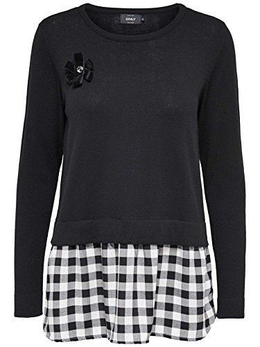 ONLY 15140611 NEW OXFORD CAMISETA Mujer Black