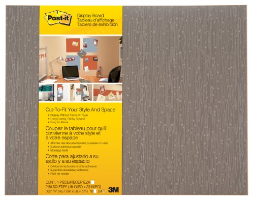 Post-it Cut-to-Fit Display Board, 18 x 23-Inches, Mocha color with 2 Attachments (Sticky Board)