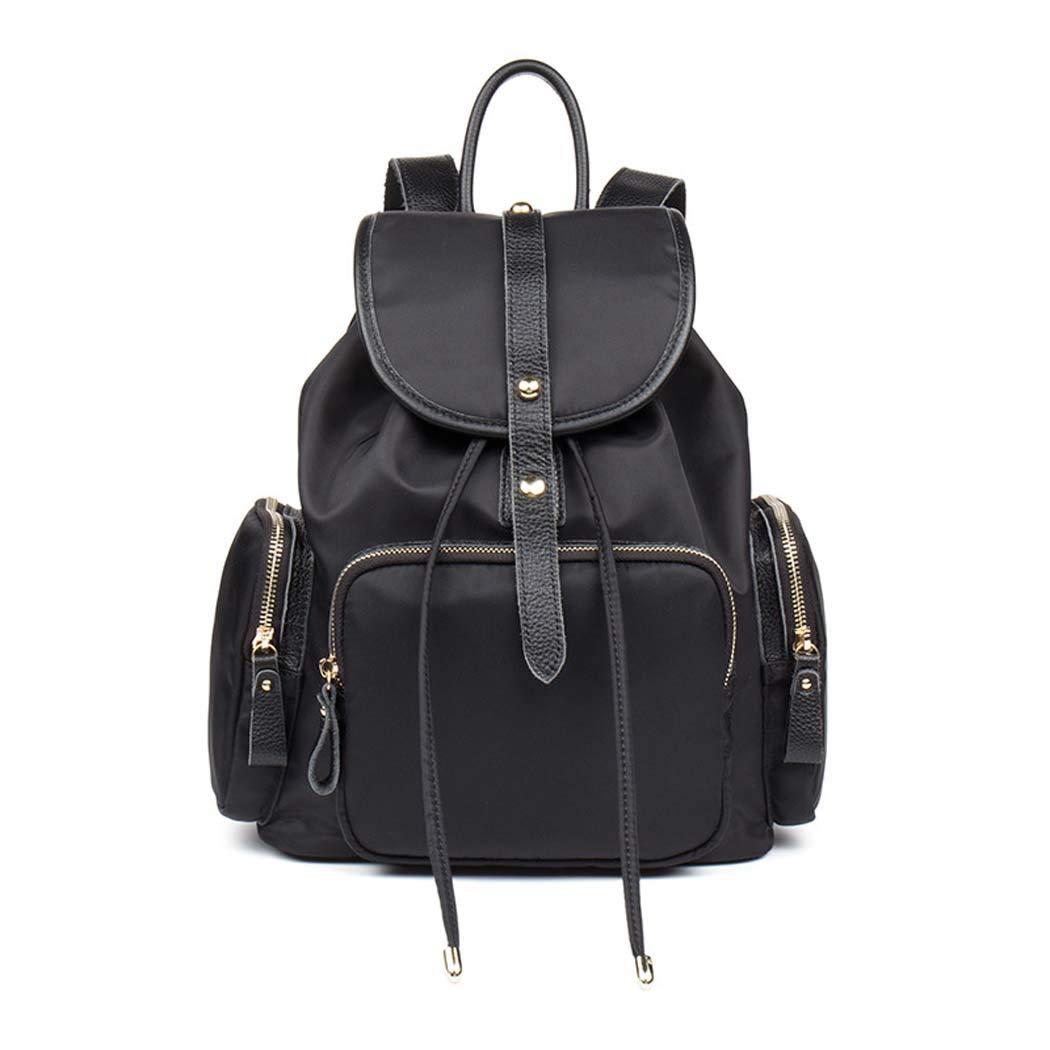 DUXX 防水バックパック ファッションナイロンバックパック 女の子用 ブラック カレッジバックパック  ブラック B07H32Y7L1