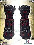 Samurai Bracer Medieval Black Arm Guard Armor Leather Halloween Costume