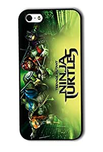 Tomhousomick Fashion High Quality Teenage Mutant Ninja Turtles Funny Design Case for iPhone 5 5S Nunchucks Long Staff Double Swords Double fork