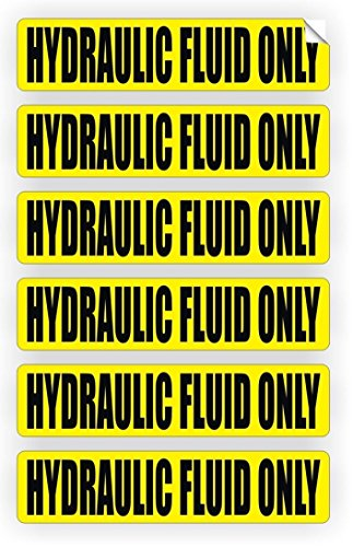6 Pc Excited Unique Hydraulic Fluid Only Window Sticker Mac Macbook Laptop Luggage Wall Graphics Safety Caution Oil Door Label Decor Vinyl Stickers Decal Patches Size 3/4