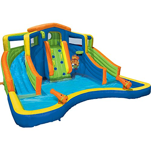 Banzai Inflatable Adventure Club Dual Slide and Pool Backyard Water Park