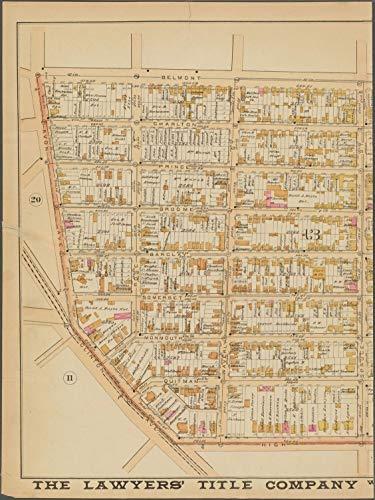 Vintography Reprinted 18 x 24 1889 Map of Newark, N.J. Canada, ou Nouvelle France, c. Scarlett & Scarlett 0 0 15a