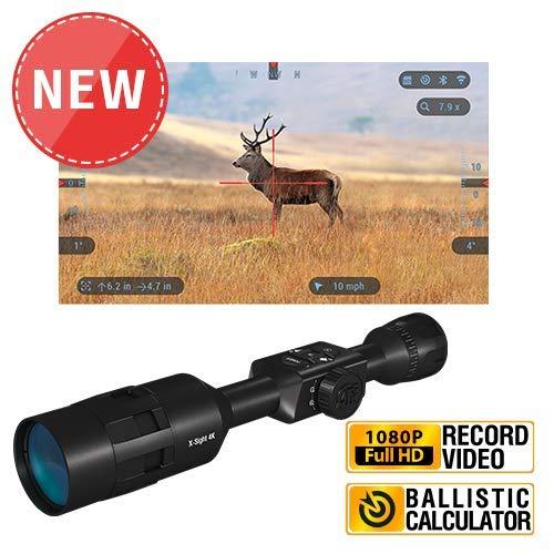 TheOpticGuru ATN X-Sight 4K Buck Hunter Smart Daytime Scope - Ultra HD 4K Technology with Superb Optics, 120fps Video, 18+ hrs Battery, Ballistic Calc (3-14x)