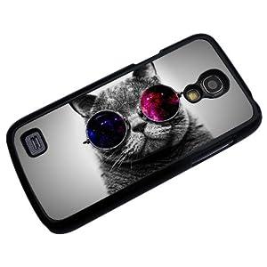 Samsung Galaxy S4 Mini i9190 Fun Cat sunglasses cool funky Fashion Trend Design Case back cover