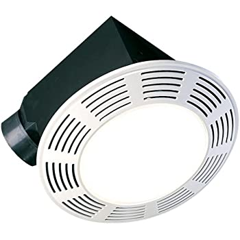 Nutone 8663rp Decorative Deluxe Fan Light Night Light W Round White Grille 100 Bathroom Fans