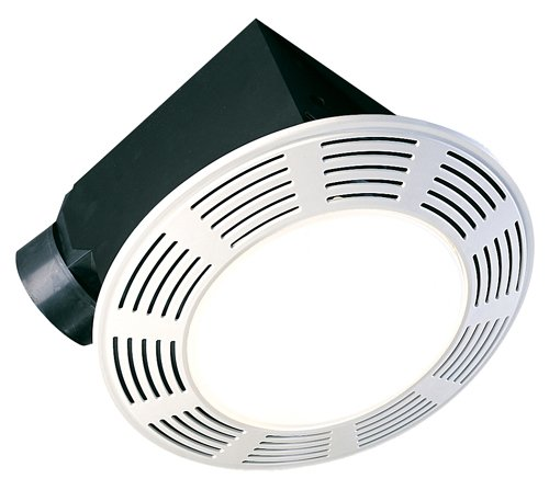 Air King AK864L Deluxe Round Bath Fan with Light (Fan Quiet Exhaust Deluxe)