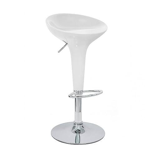 Modernhome Alpha Contemporary Bombo Style Adjustable Barstool