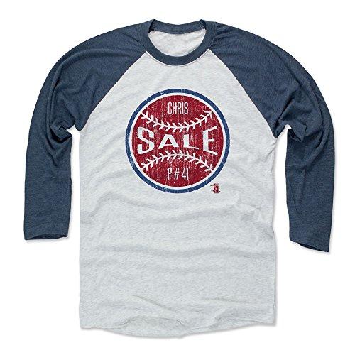 Baseball Sale Chris (500 LEVEL Chris Sale Baseball Tee Shirt X-Large Indigo/Ash - Boston Baseball Raglan Shirt - Chris Sale Ball R)