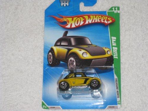 2010 Hot Wheels Treasure - Hot Wheels 2010 Treasure Hunts Baja Beetle VW Volkswagen Bug Yellow