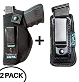 Neoprene IWB Inside The Waistband Handgun/Pistol Holster With Mag Pouch Bundle | Gun For Concealed Carry, Universal | Fits: S&W M&P Shield, Glock 17 19 26 27 42 43, Sig Sauer, Ruger, Walther - (Left)