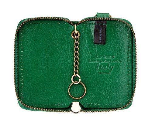 WITTCHEN caso, Verde, Dimensione: 8x5 cm - Materiale: Pelle di grano - 21-2-500-0