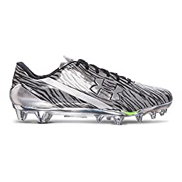 Under Armour Men\'s UA Spotlight Football Cleats 10.5 Metallic Silver