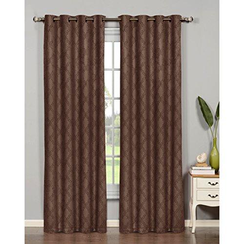 (Bella Luna Newbury Lattice Room Darkening Extra Wide 54 x 84 in. Grommet Curtain Panel,)