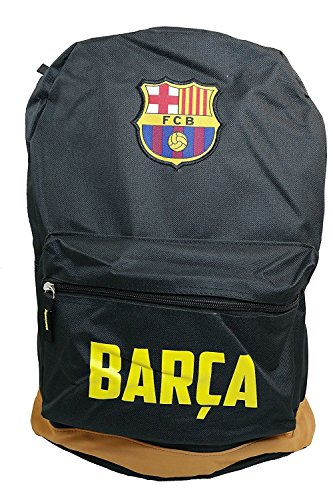 FC Barcelona Messi Soccer Backpack Schoolbag Adjustable Straps (Black Messi) (Ronaldinho Soccer Dvd)