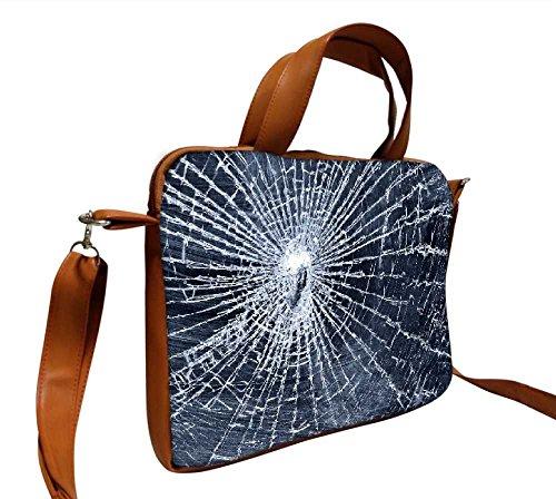 Snoogg gebrochenen Bildschirm 30,5cm Zoll auf 31,8cm Zoll auf 32cm Zoll Kunstleder Laptop Notebook Schuber Sleeve, der Fall mit und Schultergurt für MacBook Pro Acer Asus Dell HP Sony Toshiba