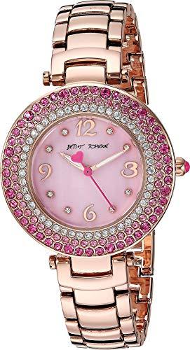 Betsey Crystal Johnson Pink - Betsey Johnson (GBG) Women's, 14 Casual Watch (Model: 37BJ00699-01BX)