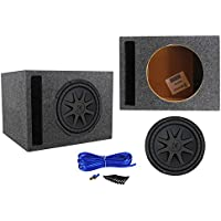 Kicker 44CVX102 10 Comp VX 600 Watt RMS Car Subwoofer+Vented Sub Box Enclosure