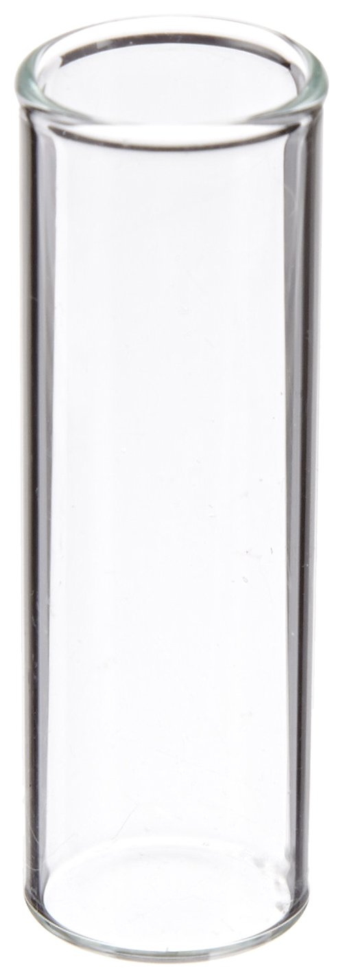 JG Finneran 4100-1545 Borosilicate Glass Shell Vial, 4.0mL Capacity, 15mm Diameter, 45mm Height, 15mm Plug, Clear (Case of 1000)