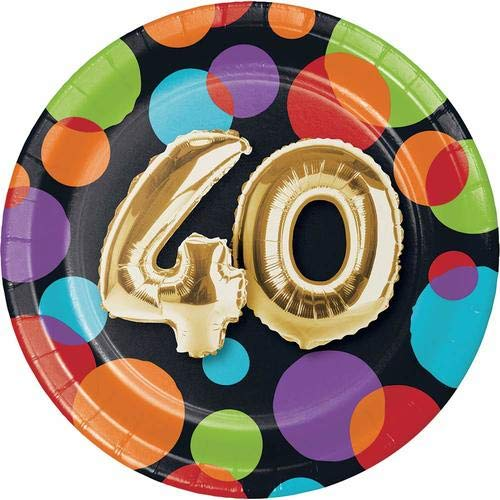 Creative Converting 332483 Metallic Gold Party Plate, 7'' Multicolor