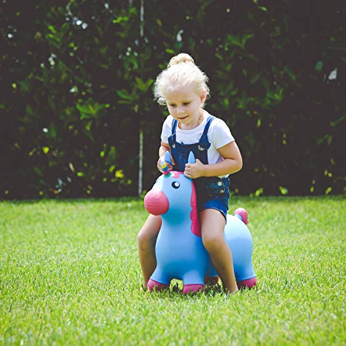Kiddie Play Hopper Ball Unicorn Inflatable Hoppity Hop Bouncy Horse (Pump Included) by Kiddie Play (Image #5)